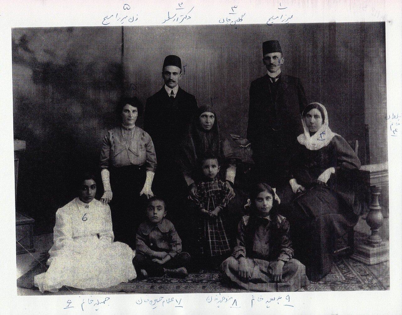 Семья Хаким, Тегеран, ок. 1913