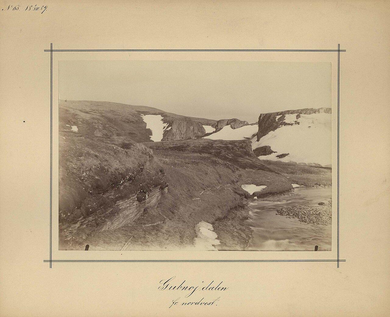 1.7.1889. Северо-западная сторона долины Gubnojin