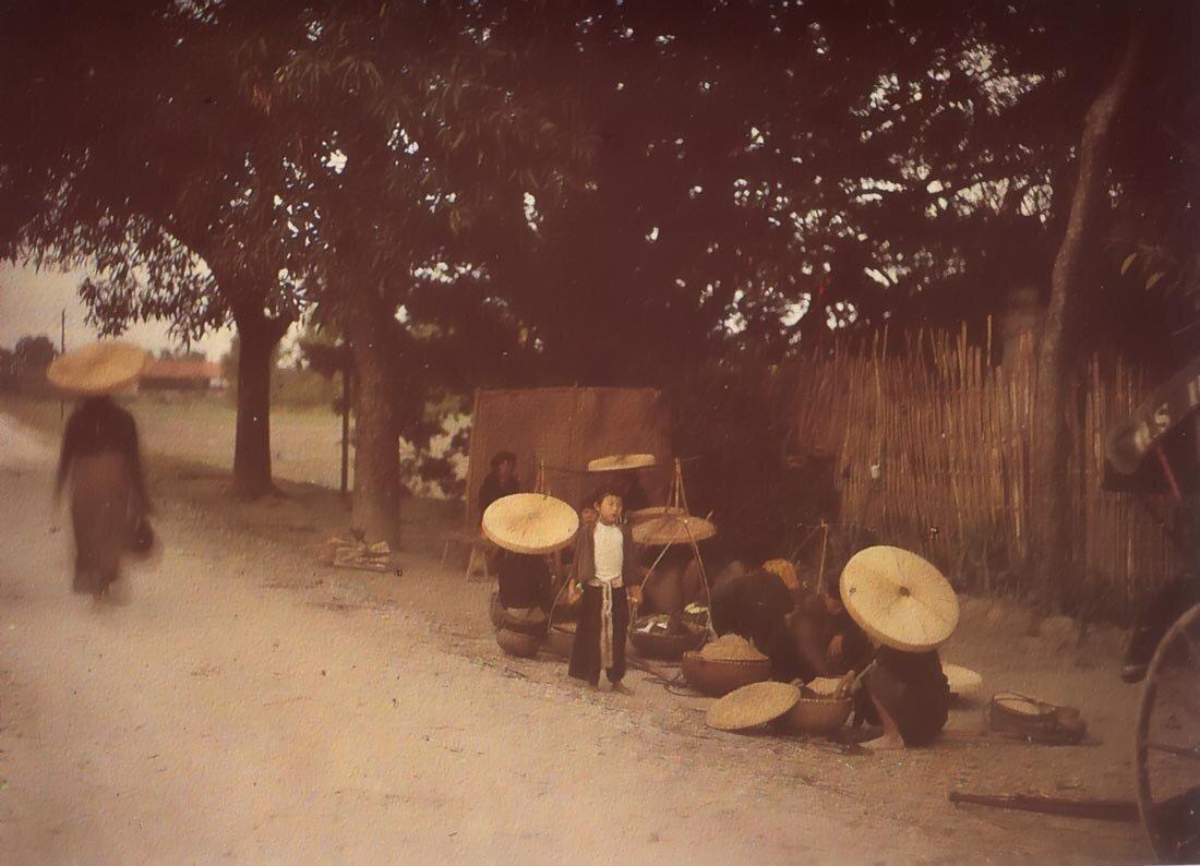 Ханой. Рынок риса, 1914-1915