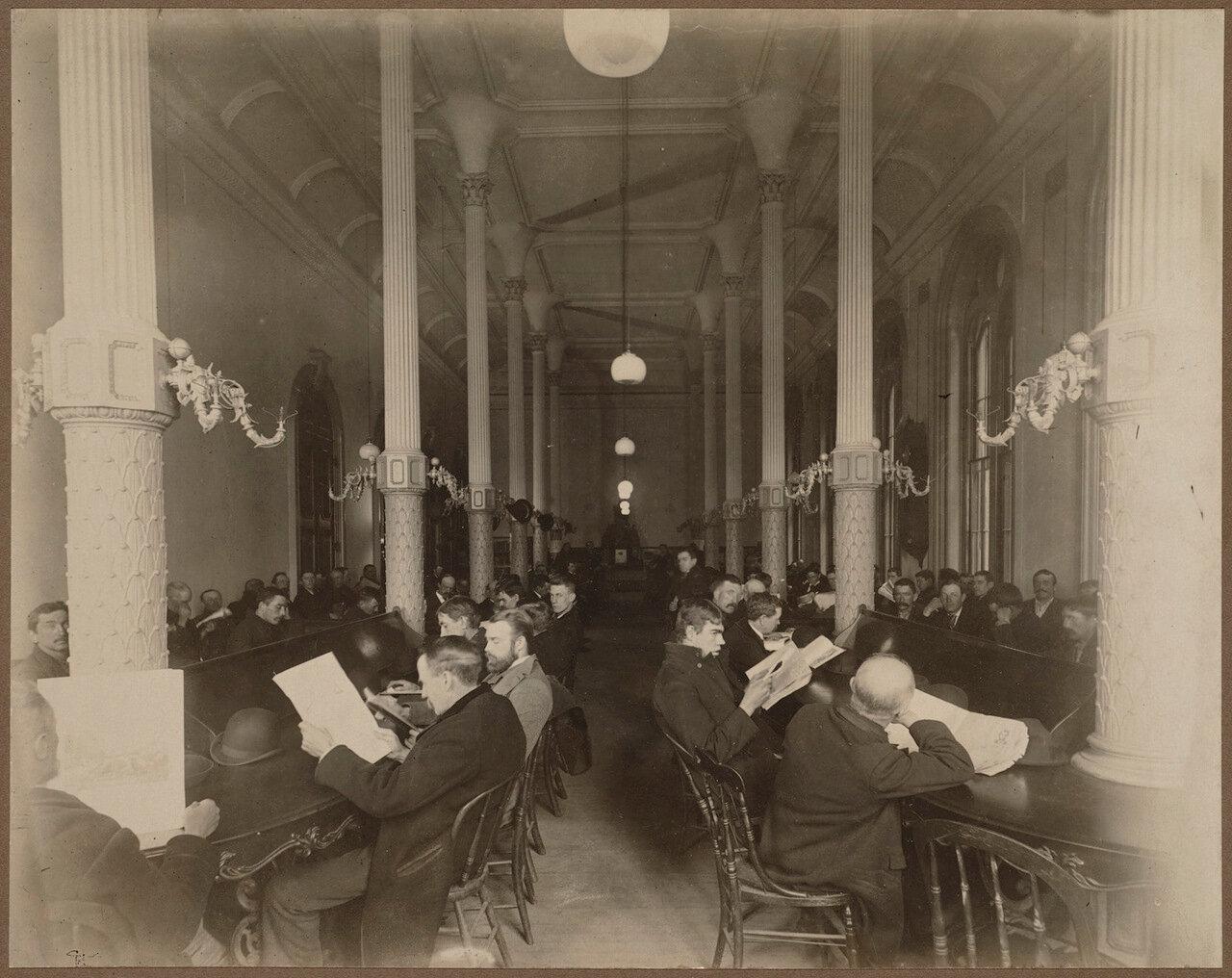 1895. Бостонская публичная библиотека. Читальный зал