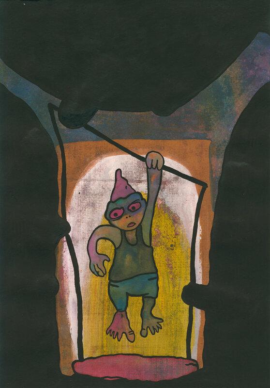 Турник в пещере