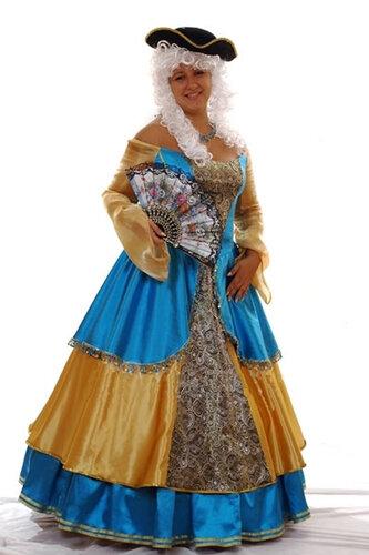 Женский карнавальный костюм Екатерина Вторая