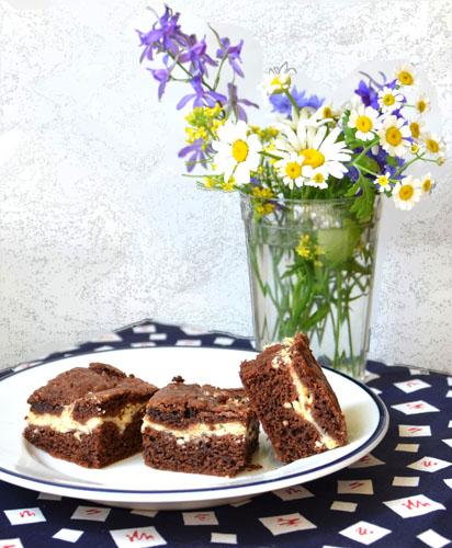 Шоколадно-творожный пирог (печенье)