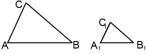 рисунок подобных треугольников