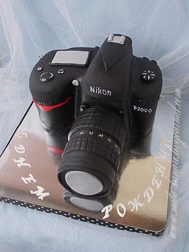 торт в виде фотоаппарата фото