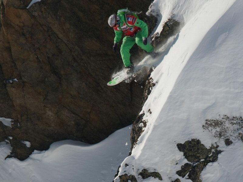 Фрирайд на сноуборде (01.10.2013)