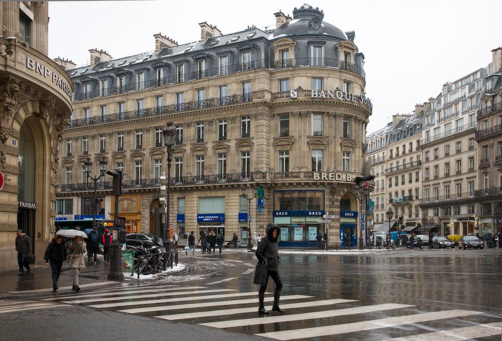Париж в январе