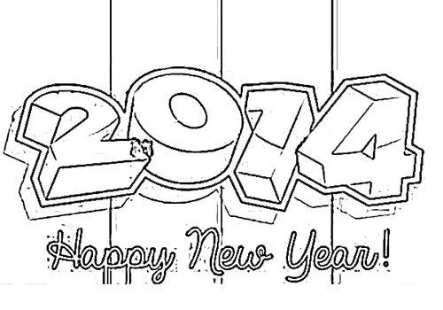 Новогодние раскраски 2014