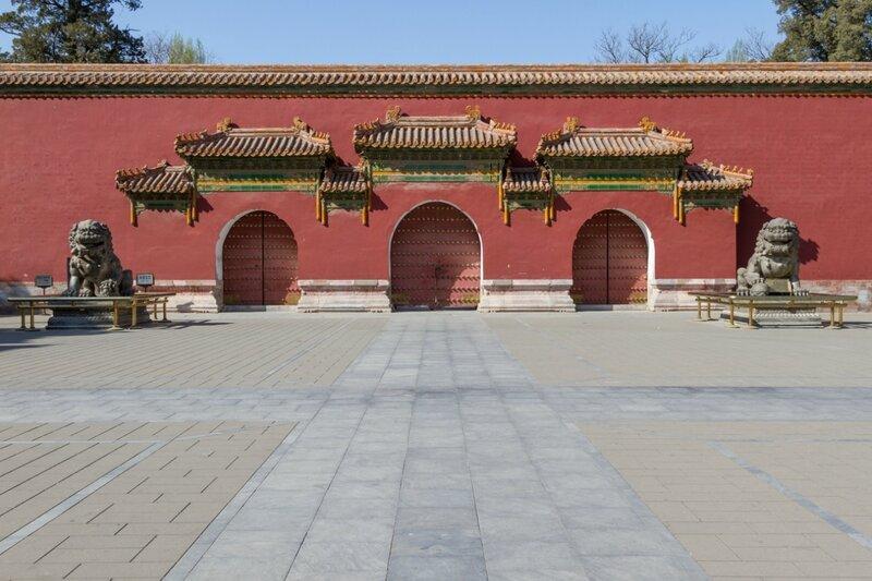 Вход в Зал императорского долголетия (Ваньхуандянь), Парк Цзиншань, Пекин