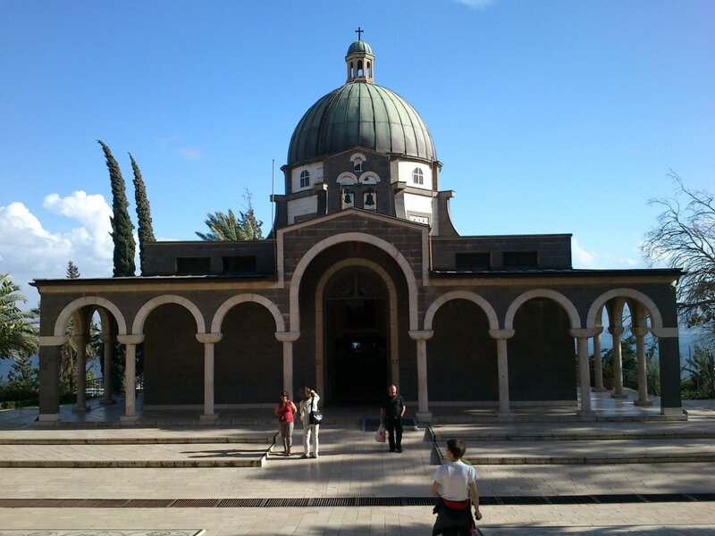 ора Блаженств. Место Нагорной проповеди. Галилейское море. Израиль.2013.