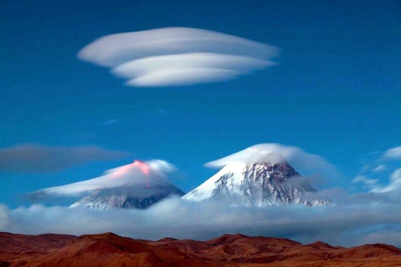 Облака на Камчатке, похожие на НЛО