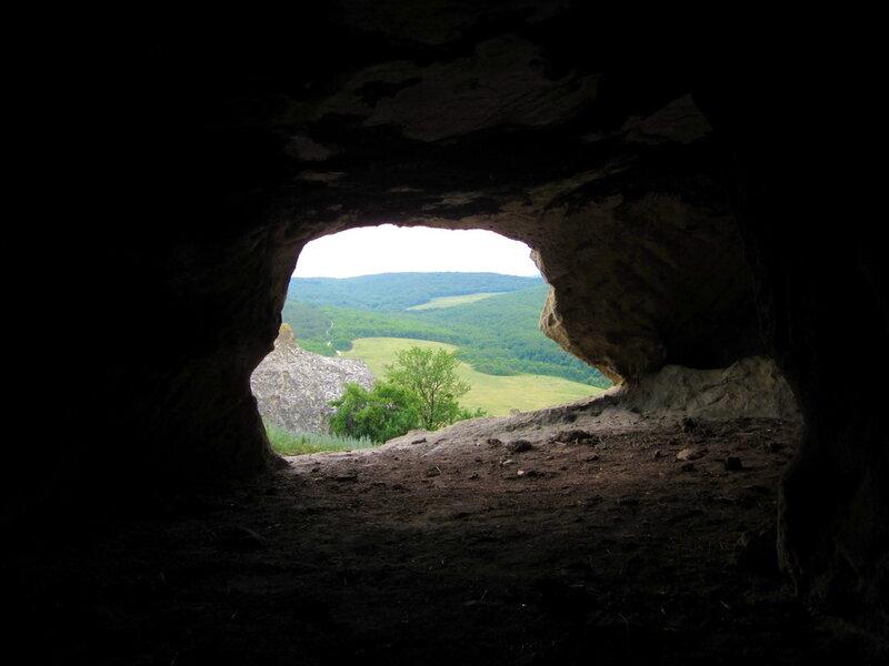 Вид из пещеры. Бакла