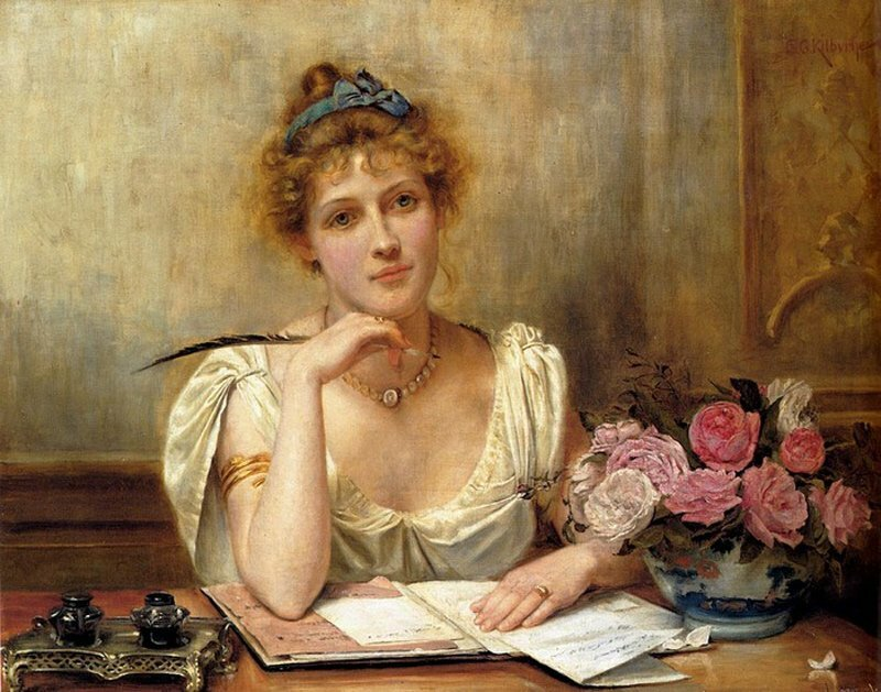 George Goodwin Kilburne. The Letter.