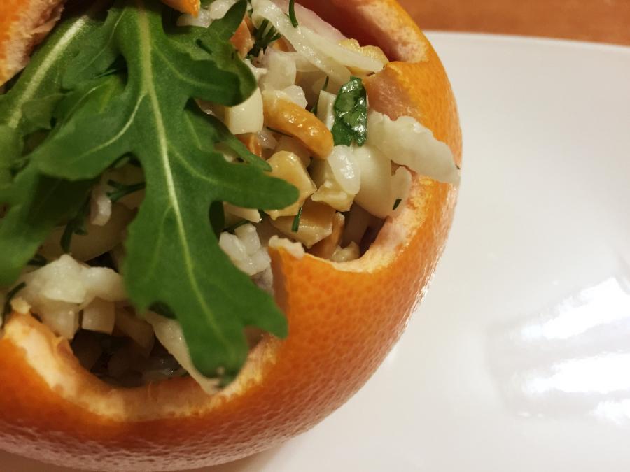 Новогодние шары с салатом
