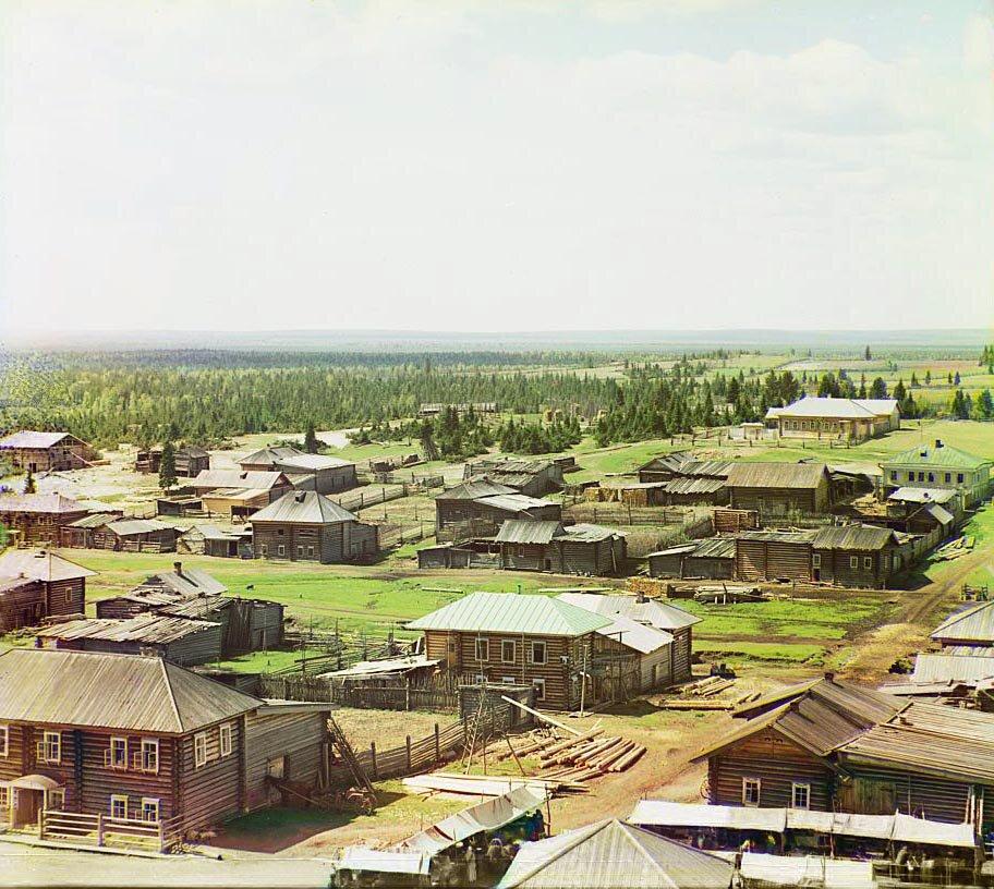Западная часть села Ныроб. Не ранее 1912.