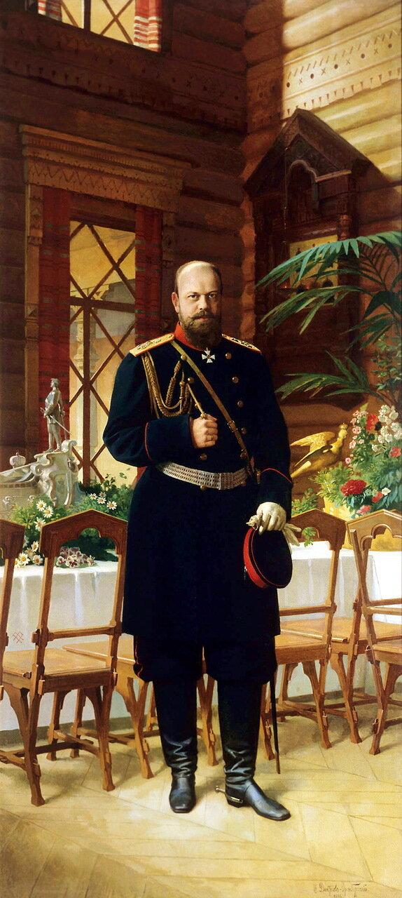 Николай Дмитриев-Оренбургский (1837-1898). Портрет императора Александра III