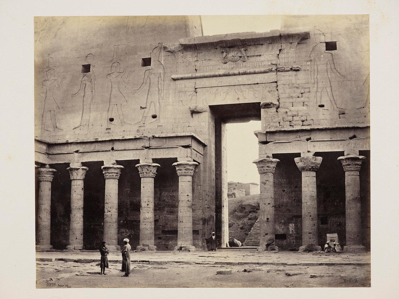 14 марта 1862. Часть арки Храма Гора, Эдфу