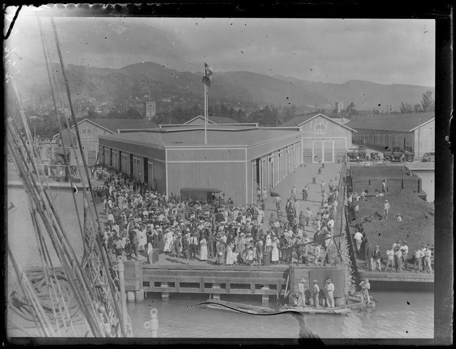 1919. Февраль-март. Гавайи. Гонолулу. Порт