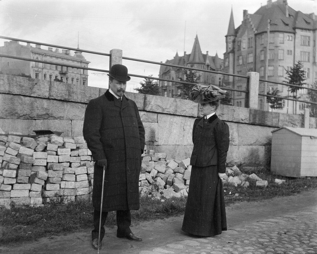 Бруно и  Ингрид Аминовы в Катаянокка, 1906