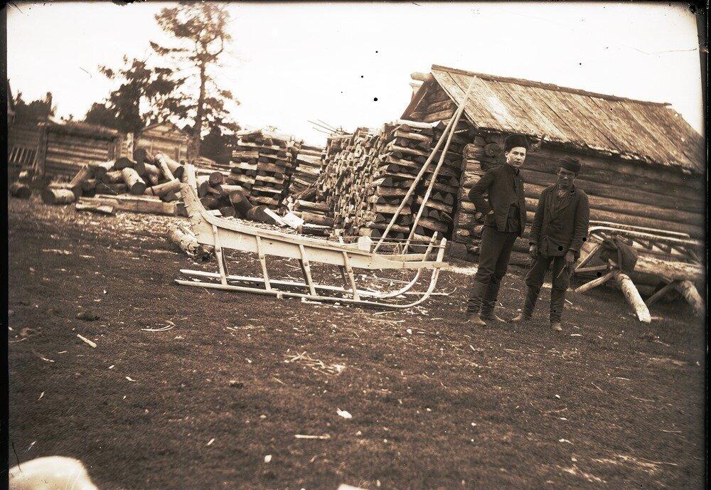 1912. Село Ларьяк.  Лошадиная нарта