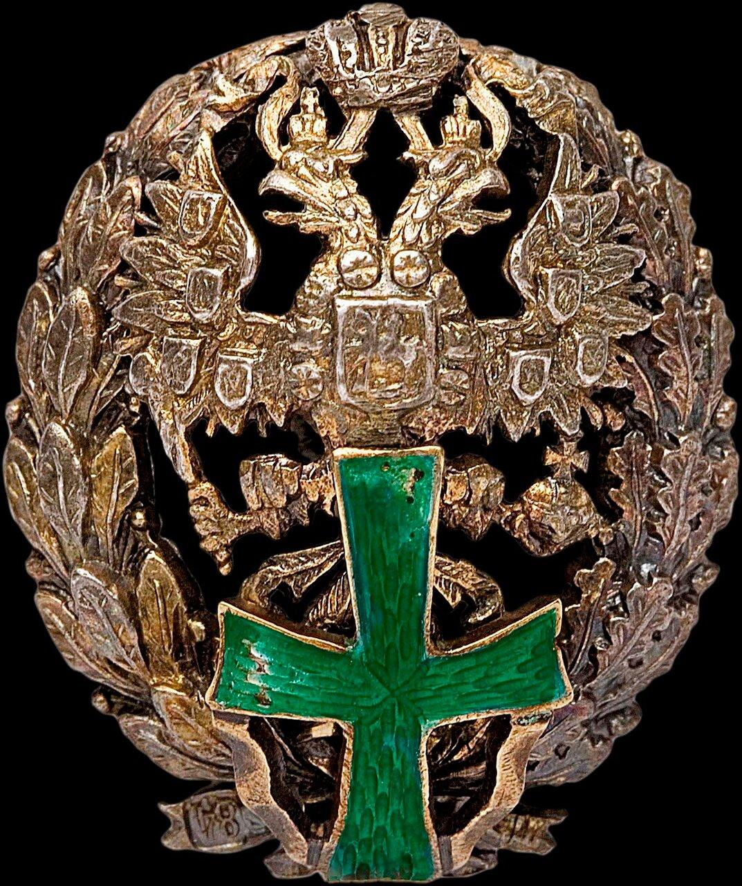 Знак об окончании Политехнических институтов - Варшавского Николая II - Санкт-Петербургского - Киевского Александра III