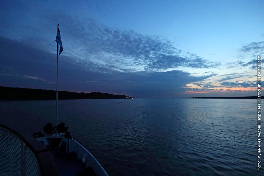 вечернее фото Волга у Чебоксар