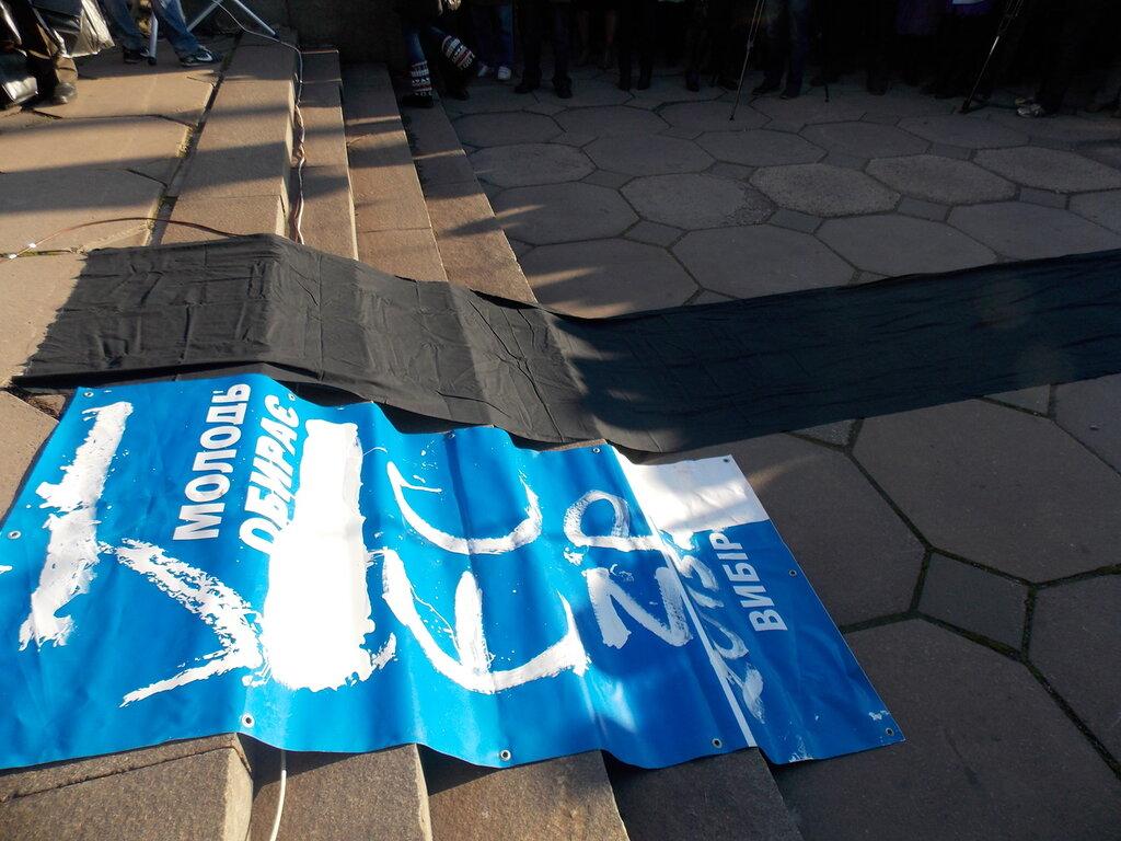 Запорожский Евромайдан: «Банду геть!», «Ода чму» и галочка против Януковича (ФОТОРЕПОРТАЖ), фото-6