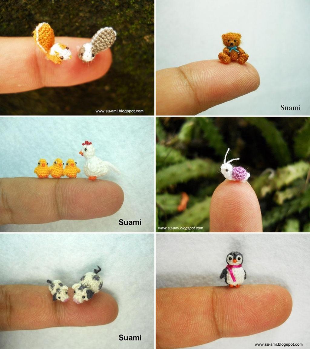Tiny Crocheted Animals by Suami