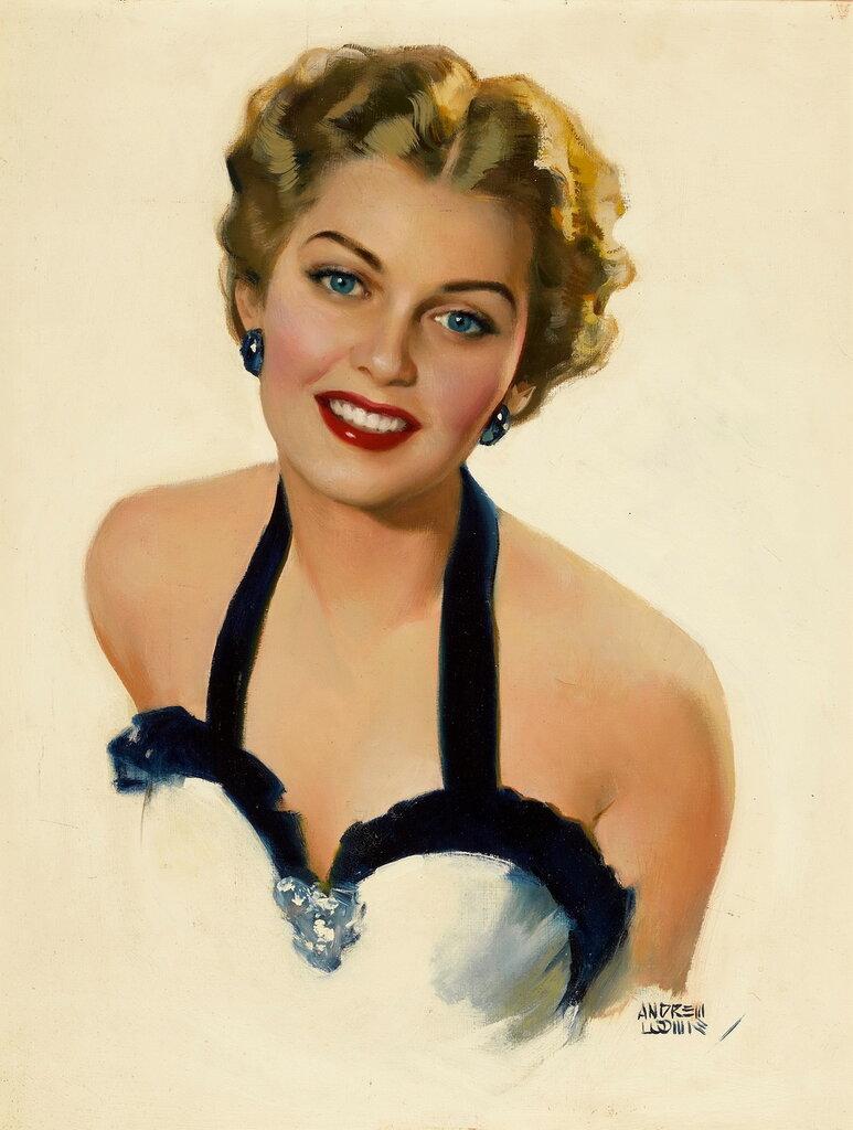 Andrew Loomis (1892-1959) - Glamour portrait