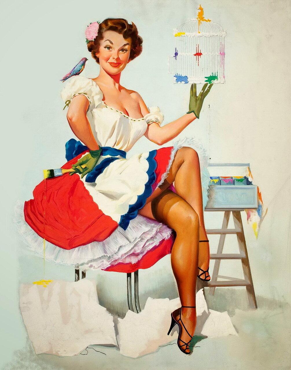 Девушка американские открытки