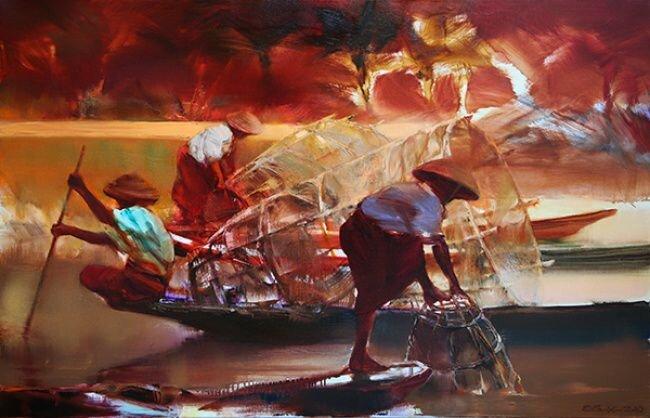 Экспрессия красок в картинах о Востоке © Валерий