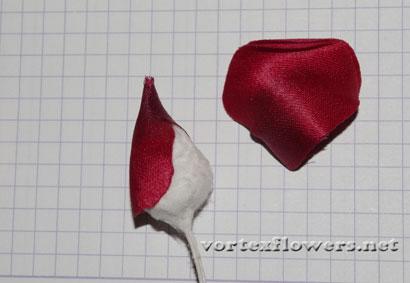 Роза из ткани мастер-класс