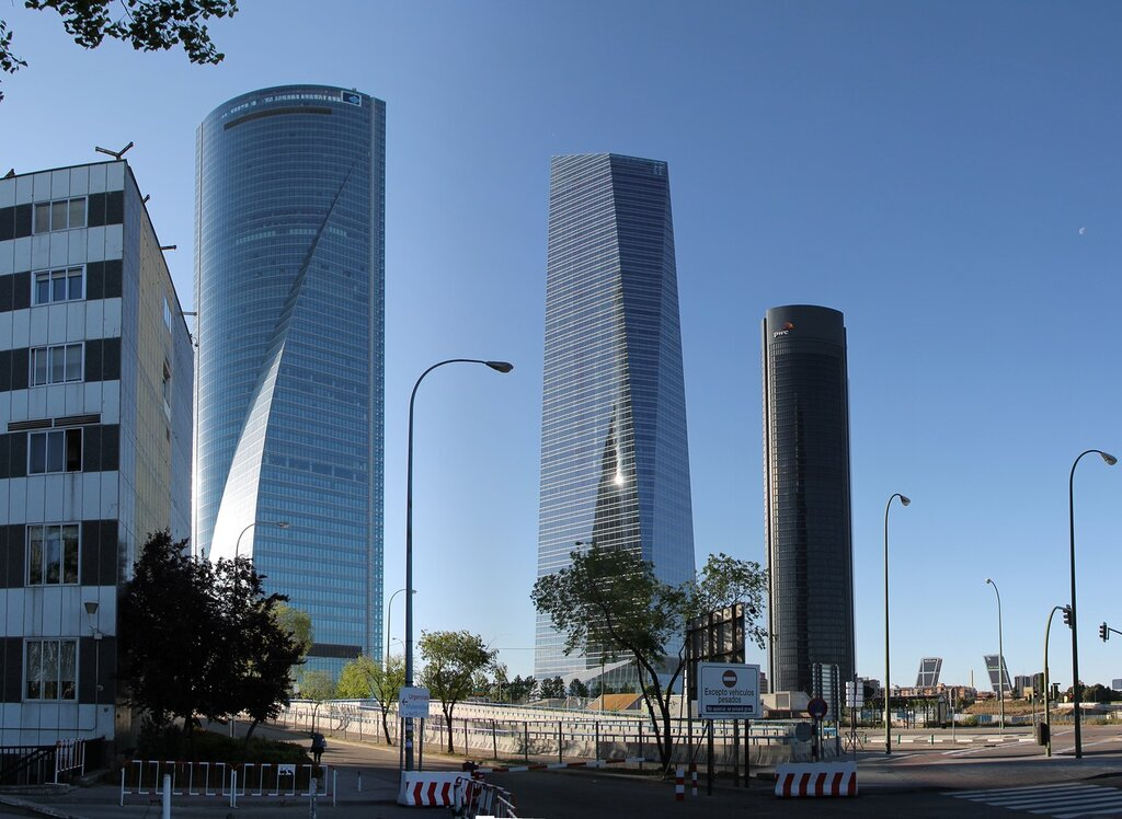 Madrid. Four towers business district (Cuatro Torres Business Area, CTBA)