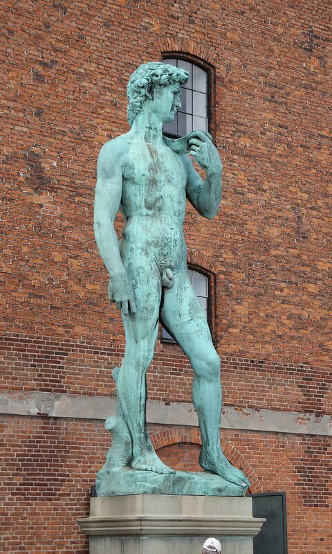 Copenhagen. Waterfront Larsens Plads. The sculpture of David