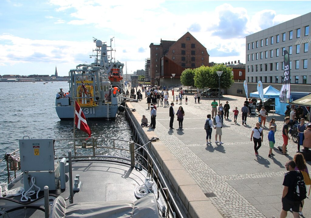 Copenhagen. Diving boat of the Denmark Navy