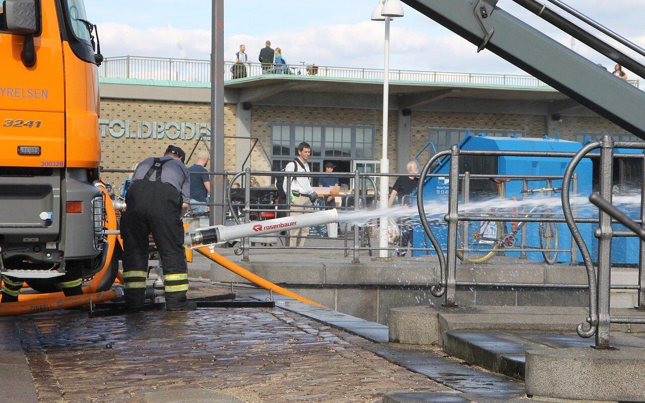 Копенгаген. Выставка пожарной техники. Københavns Brandvæsen. Copenhagen, Exhibition of fire technics. ,