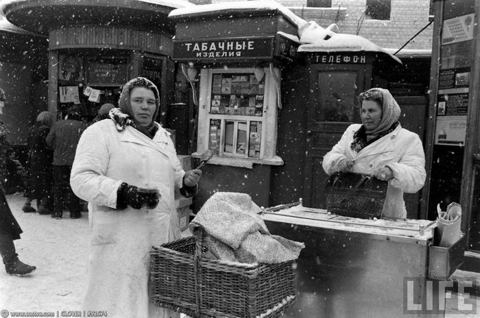 Зимняя Москва глазами американца. Фотограф Carl Mydans. 1959г.