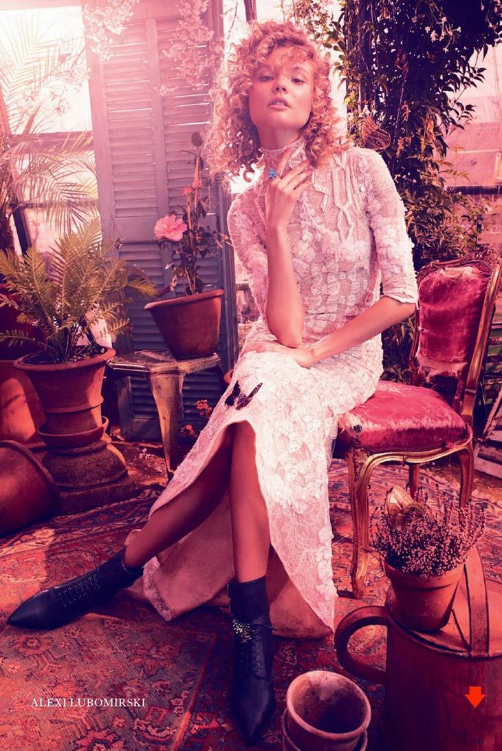 Magdalena Frackowiak в июньском номере журнала Harpers Bazaar UK