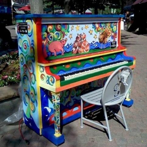 Роспись пианино своими руками 15