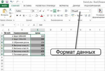Как в Excel 2013 применить форматы содержимого ячейки