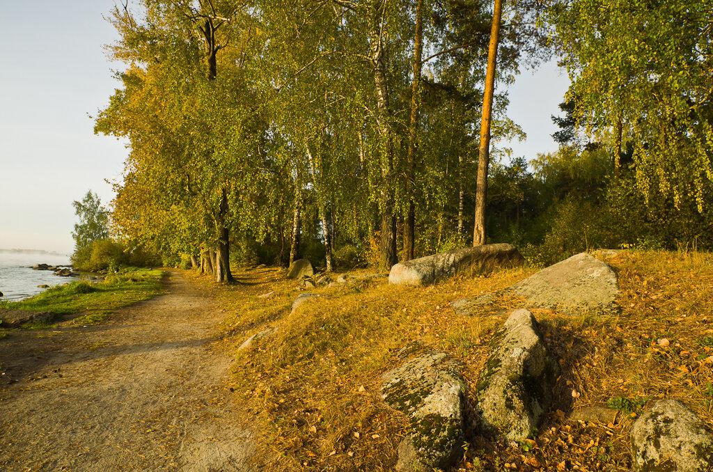 В моем отчете сегодня только камни. Вот вам пример, как снимает Самъянг 14 мм камни на берегу... :) Тушка - Никон Д5100.