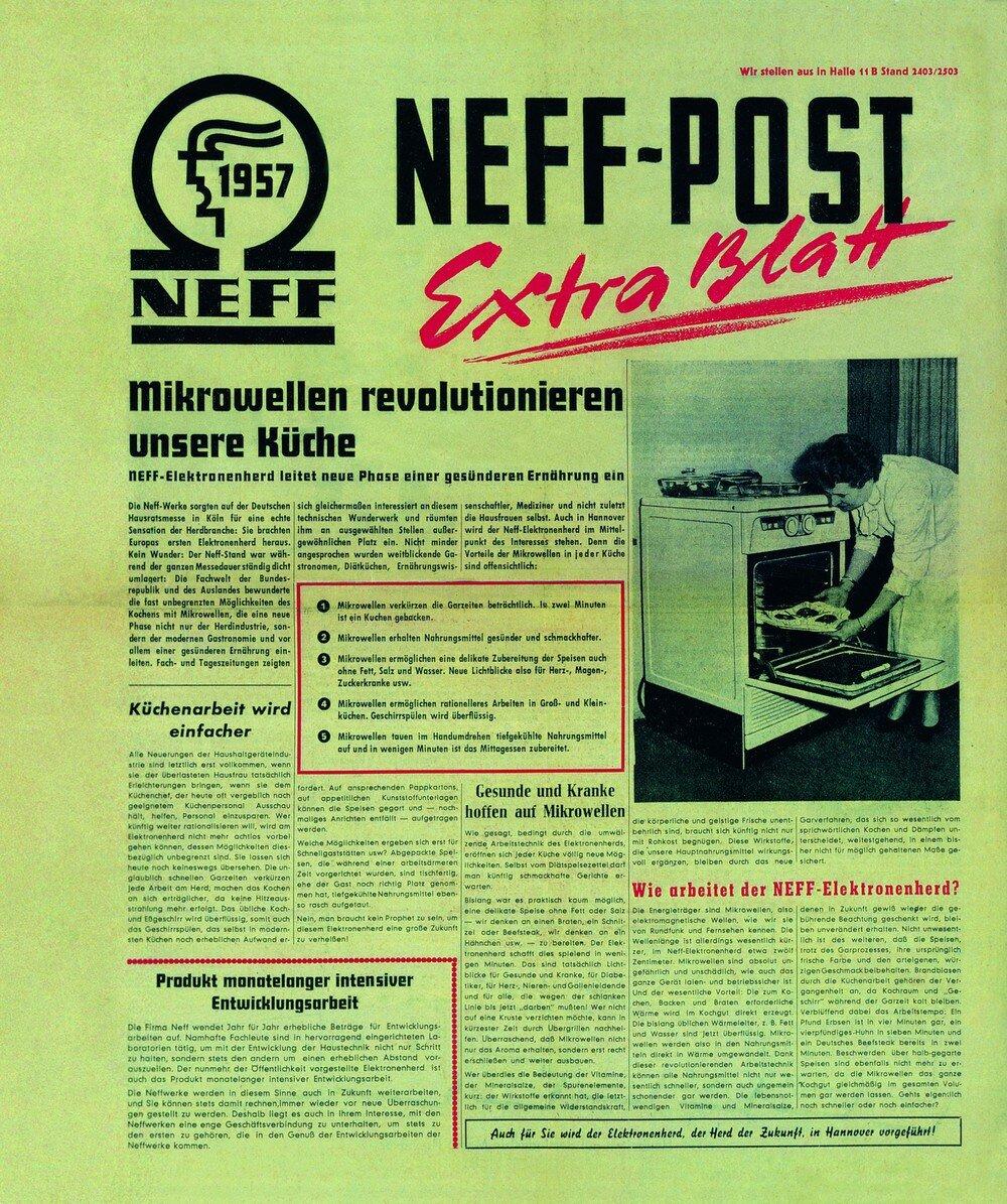 Газета с рекламой Neff