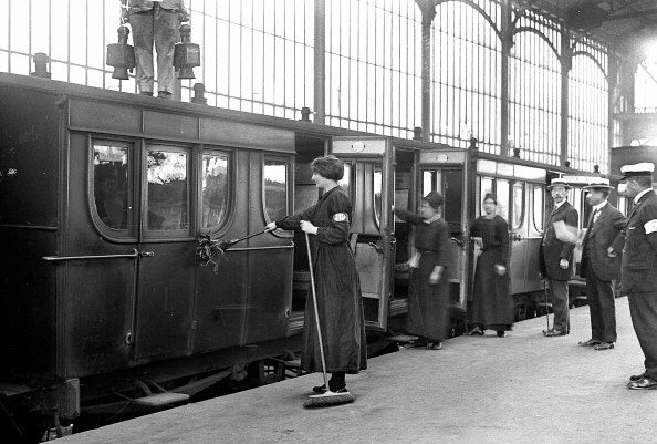 Female railroad employees