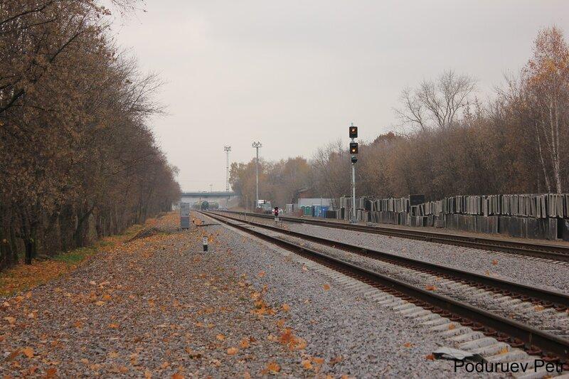 Входной светофор станции Белокаменная