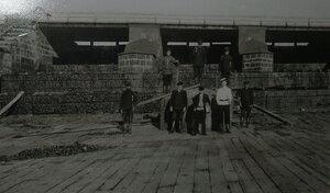 Плотина К.Ф.Гаусмана, ремонт сливного пола, нач.1900-х.