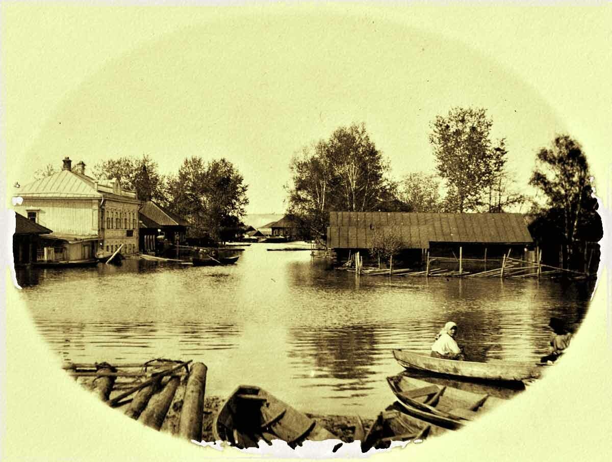Окраина Перми. Затопление домов в 1914 году