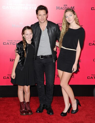 LOS ANGELES, CA - NOVEMBER 18: Peter Facinelli and daughters arrives at THE HUNGER GAMES: CATCHING FIRE L.A. Premiere held at Nokia Live in Los Angeles, California on November 18,2012