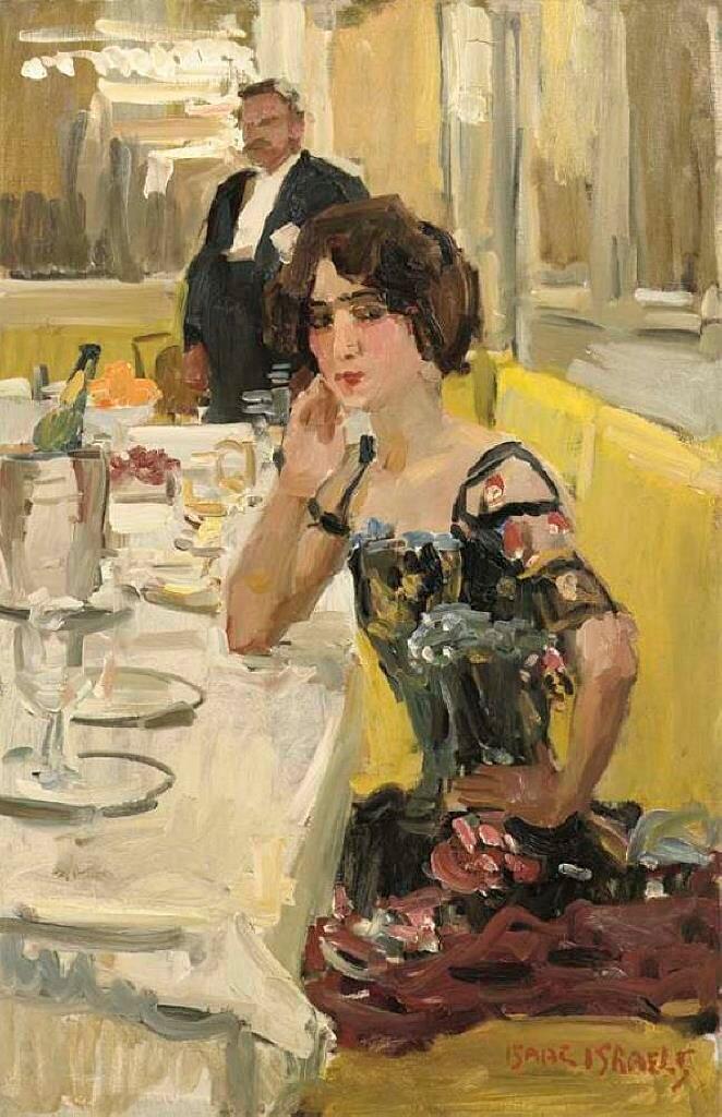 Столик в ресторане Le Perroque, Исаак Исраэлс (1865-1934)