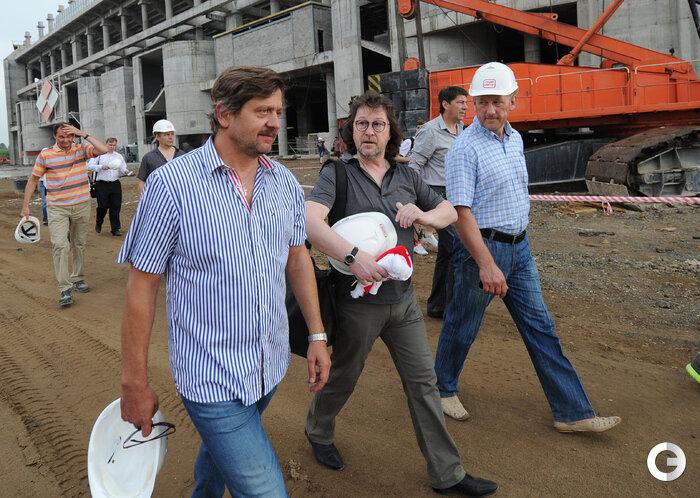 Дасаев, Родионов и Кутиков посетили «Открытие Арену» (Фото)