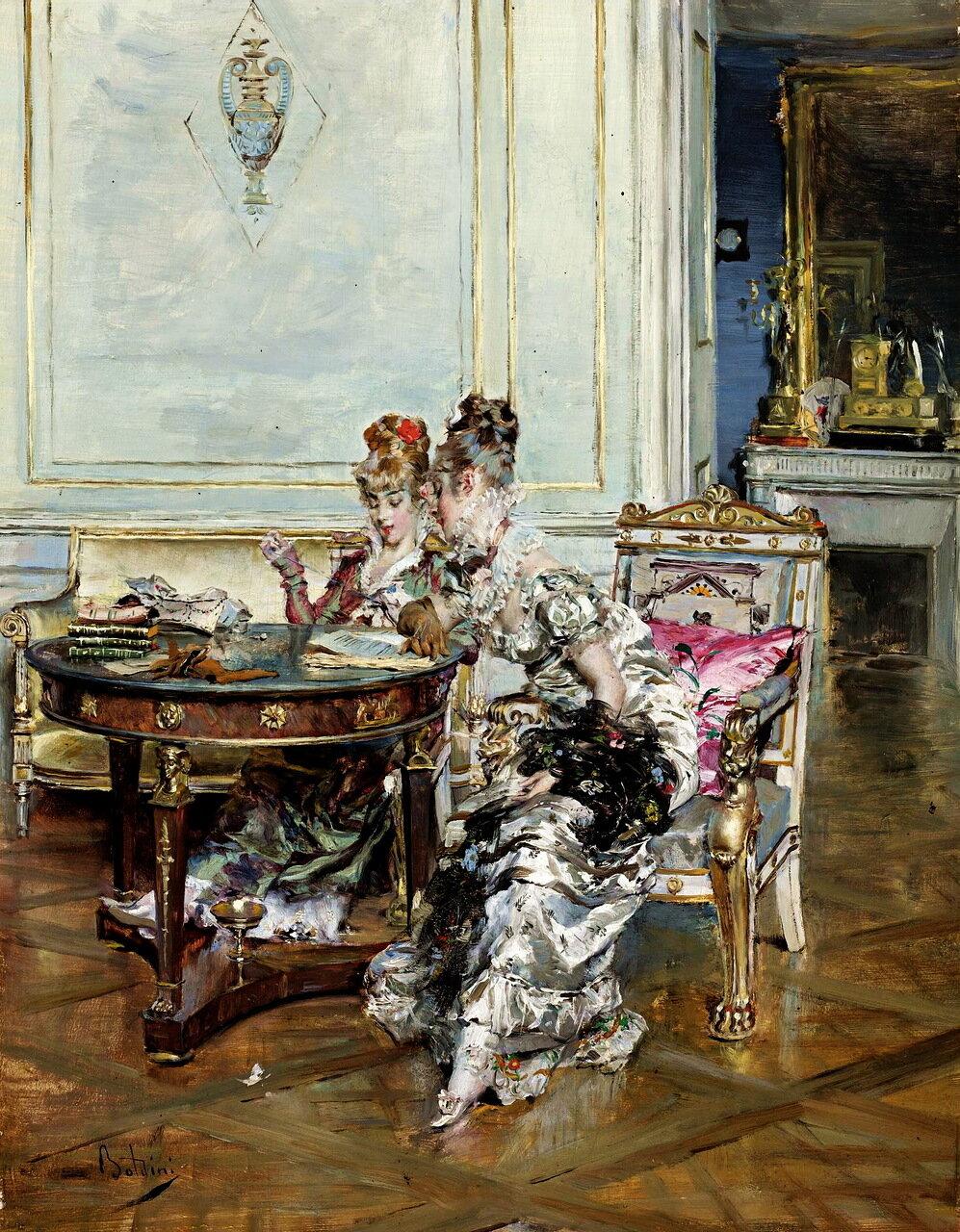Giovanni Boldini (ITALIAN, 1842-1931) - CONFIDENCES